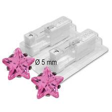 1 Paar STUDEX Medizinische Ohrstecker Stern Pink Zirkonia ***26135.401
