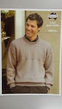 Heirloom Knitting Pattern #129 to Knit Man's Round Neck Jumper in 5 Ply