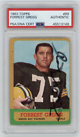 1963 PACKERS Forrest Gregg signed card Topps #89 PSA/DNA Slab AUTO Autographed
