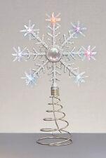 Noël LED Arbre dessus Étoile Changement Couleur Haut Flocon de Neige Neuf