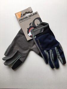 Men's XL Pearl Izumi Attack Full Finger Gloves - Navy Blue