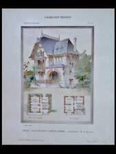 ONIVAL, AULT, CHALET LE CAPRICORNE - 1907 - PLANCHE COULEUR - RAOUL BRANDON