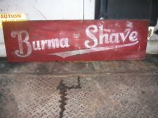 Antique Burma Shave Wooden Road Sign / 1930s Barbershop Advertising 40x12