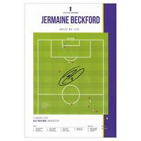 Jermaine Beckford Signed Leeds United Goal Photo Leeds Utd Autograph Memorabilia