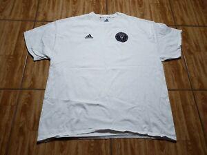 Adidas Miami FC Soccer Short Sleeve MLS Shirt Adult XL White Futbol Mens