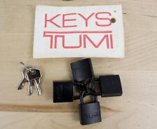 Lot of 4 TUMI Luggage Security Padlocks Locks & Keys Genuine