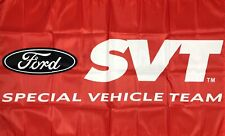 New listing Ford Shelby Cobra Svt Flag 3x5 ft Red Banner Special Vehicle Team Performance