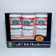 Budweiser King Of Beers Beer Can Golf Club Headcovers 1,3,5 Golfing New Open Box