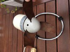 Vintage Fan Retro Mid Modern art deko germany  Table-leather fin