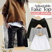 Adjustable Layering Fake Top Lower Sweep Skirt Half-length Splitting A Version