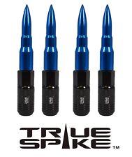 20 TRUE SPIKE 121MM 12X1.5 BLUE EXTENDED STEEL TUNER SPIKED BULLET LUG NUTS C