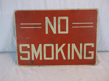 Vintage Art Deco NO SMOKING Safety Sign Industrial Warehouse Factory