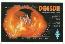 Germany amateur radio station DG6SDH QSL card Sunspot Number