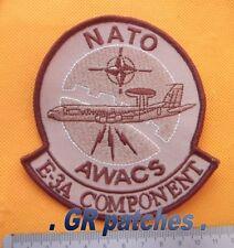 NATO Awacs E-3A Luftwaffe Armee Militärisch Menge Stoff Flicken Desert Patch