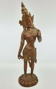 Antique Indian Hindu Bronze Deity God Statue Figurine Late 19th Century