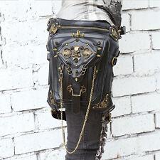 Lady Steampunk Skull Belt Bag Waist leg Hip Holster Purse Pouch Cyberpunk Bag