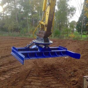 JSA Excavator grading beam with hydraulic tilt and roller 5-22 ton