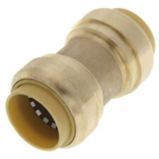 BOX OF 6  No Lead Brass Pushfit 3/4' Coupling  for Copper PEX CPVC