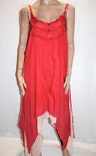Ruby Street Brand BOHO Red Asymmetric Maxi Dress Free Size #AN02