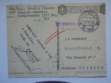 FANTERIA 259 REGGIMENTO Posta militare 154 vecchia cartolina