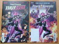 Boom Studios Power Rangers Pink Ranger Slayer +FCBD Prelude Set Parott Mora NM