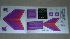 A Transformers complete premium quality  sticker/decal sheet for G1 Cyclonus