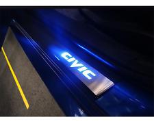 2016-2017 Honda Civic Led Door Sill Kick Plate Blue Light