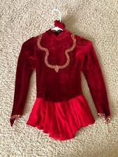 Red Velvet Figure skating dress