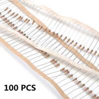 100 PCS 1/4W 0.25W 5% 1 K OHM Carbon Film Resistor 1st Class Postage Hot TR