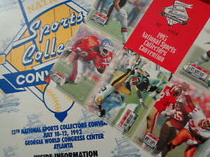 1992 & 1993 FOOTBALL - SPORTSCARD CONVENTION UNCUT SHEETS + PRO SET ERROR SHEET