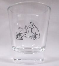 RCA Victor Nipper Dog Image on Clear Shot Glass