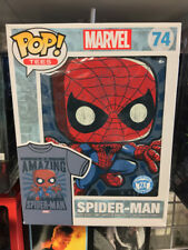 "Pop Tees ""THE AMAZING SPIDER-MAN"" (2X) #74 Unisex T-Shirt Funko Marvel Sealed"