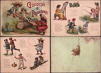 GIOCHI-ILLUSTRATO A COLORI-GIUOCHI E PASSATEMPI-PARAVIA-TITO GIRONI-'900-L4554