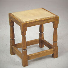 Yorkshire Oak Stool - Arts & Crafts - Cream (delivery available)