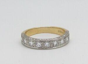 Stunning 18ct Gold Diamond Half Eternity Ring
