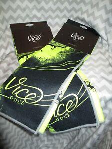 Vice Shine Golf Towel Neon Lime