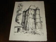 EGLISE DE PRISCES - Lithographie Albert Lemasson - Thiérache