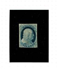 U.S. Scott #9 unused blue 1c Franklin.