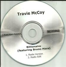 Gym Class Heroes TRAVIE McCOY w/ BRUNO MARS Billionaire RADIO MIXS/EDIT PROMO CD
