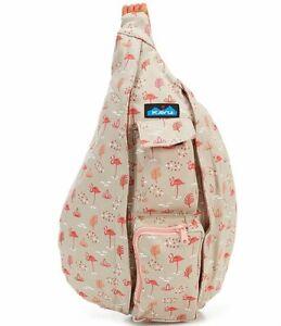 KAVU Womens Rope Bag CHILLIN FLAMINGO Backpack Sling Travel Crossbody NWT
