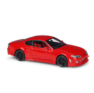 Welly 1:24 Nissan Silvia S-15 Diecast Model Racing Car Red NEW IN BOX