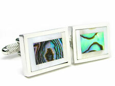 Abalone & Mother of Pearl Cuff Links cufflinks #C-127