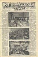 1898 Gun Cotton Collodion Artificial Silk Manufacturing Scientific American Old