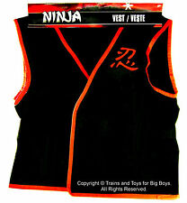 NINJA VEST BLACK RED Kids Halloween Costume Accessory Role Play Toy Child Toys I