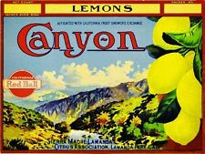 Sierra Madre LaManda Park Canyon Lemon Citrus Fruit Crate Label Art Print