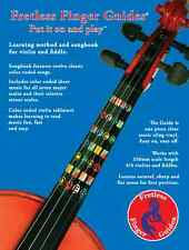 Learn how to play violin songbook and 3/4 size Fretless Finger Guide