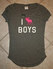 NWT Abercrombie Girls XL I Moose Boys Grey T-Shirt - LAST ONE!