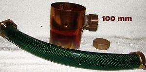 Regenwassersammler 100 mm Kupfer Regensammler inkl. Schlauchanschlussset + Kappe