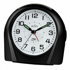 opaAcctim Europa Non Ticking Silent Sweeper Black Alarm Clock 14113