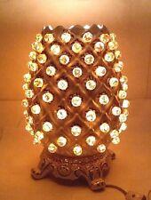 Rare Vintage 1960'S Pineapple Ceramic Television Light Tv Lamp Raspberries
